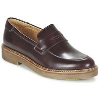 鞋子 女士 皮便鞋 Kickers OXMOX 波尔多红