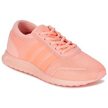 鞋子 女孩 球鞋基本款 阿迪达斯三叶草 LOS ANGELES J 珊瑚色