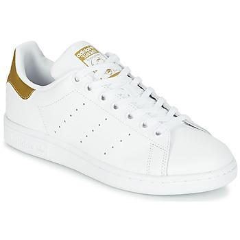 鞋子 儿童 球鞋基本款 阿迪达斯三叶草 STAN SMITH J 白色