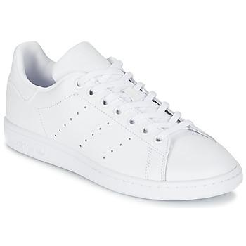 鞋子 儿童 球鞋基本款 Adidas Originals 阿迪达斯三叶草 STAN SMITH J 白色