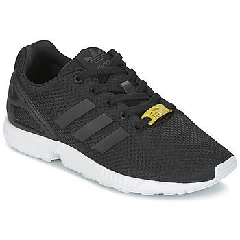 鞋子 男孩 球鞋基本款 Adidas Originals 阿迪达斯三叶草 ZX FLUX J 黑色