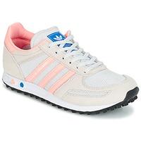 鞋子 儿童 球鞋基本款 Adidas Originals 阿迪达斯三叶草 LA TRAINER J 白色 / 玫瑰色
