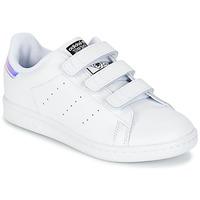 鞋子 儿童 球鞋基本款 阿迪达斯三叶草 STAN SMITH CF C 白色
