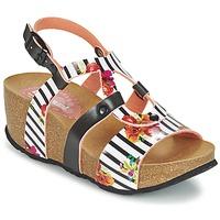鞋子 女士 凉鞋 Desigual BIO 9 FLORES 黑色 / 白色 / 花