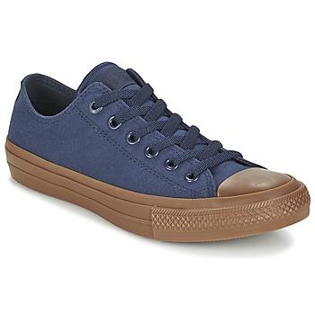 鞋子 男士 球鞋基本款 匡威 CHUCK TAYLOR ALL STAR II TENCEL CANVAS OX 海蓝色 / 棕色