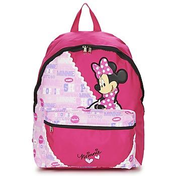 包 女孩 双肩包 Disney MINNIE SCRATCH DOTS SAC A DOS BORNE 玫瑰色