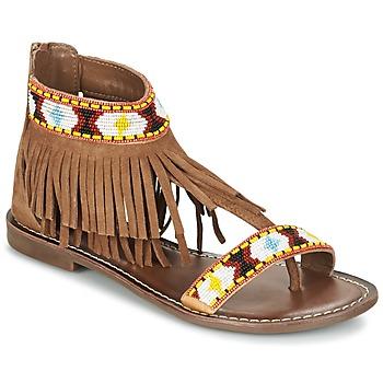 鞋子 女士 凉鞋 Metamorf'Ose ZACCIN 棕色