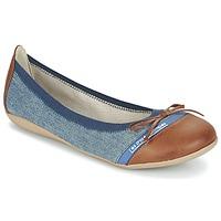 鞋子 女士 平底鞋 Les P'tites Bombes CAPRICE 蓝色 / 驼色