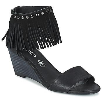 鞋子 女士 凉鞋 Les P'tites Bombes NADIA 黑色
