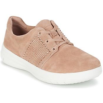 鞋子 女士 球鞋基本款 FitFlop SPORTY-POP X CRYSTAL 玫瑰色