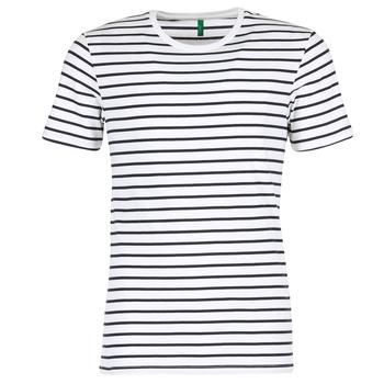 衣服 男士 短袖体恤 Benetton MAKOUL 蓝色 / 白色
