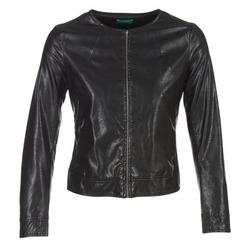 衣服 女士 皮夹克/ 人造皮革夹克 Benetton JANOURA 黑色
