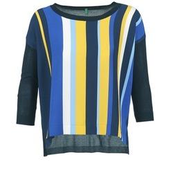 衣服 女士 羊毛衫 Benetton OVEZAK 蓝色 / 黄色 / 白色