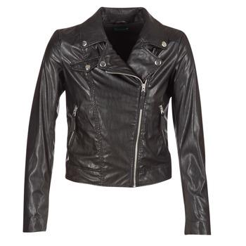 衣服 女士 皮夹克/ 人造皮革夹克 Benetton FAJOLI 黑色