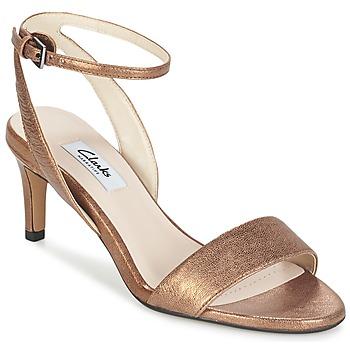 鞋子 女士 凉鞋 Clarks 其乐 AMALI JEWEL 金色
