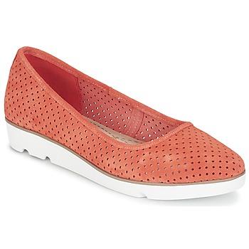 鞋子 女士 平底鞋 Clarks 其乐 EVIE BUZZ 珊瑚色