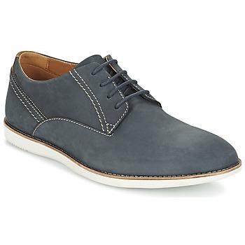 鞋子 男士 德比 Clarks 其乐 FRANSON PLAIN 蓝色