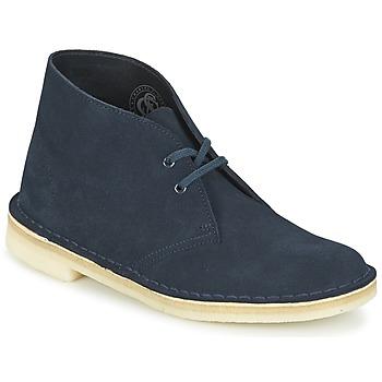 鞋子 女士 短筒靴 Clarks 其乐 DESERT BOOT 蓝色