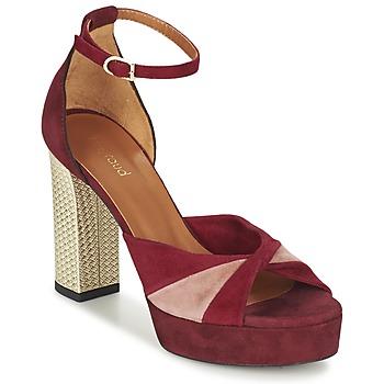 鞋子 女士 凉鞋 Heyraud EVELINE 红色 / 玫瑰色 / 金色