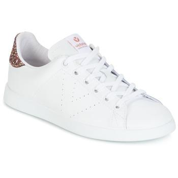 鞋子 女士 球鞋基本款 Victoria 维多利亚 DEPORTIVO BASKET PIEL 白色 / 玫瑰色 / 金色