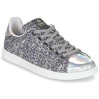 鞋子 女士 球鞋基本款 Victoria 维多利亚 DEPORTIVO BASKET GLITTER 银灰色