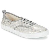 鞋子 女士 球鞋基本款 Victoria 维多利亚 INGLES TEJ PLACA SERPIENTE 银灰色