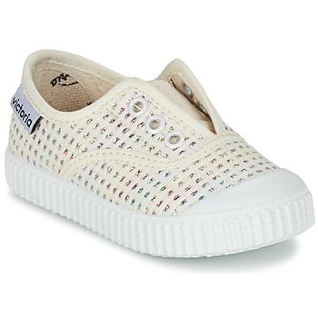 鞋子 女孩 球鞋基本款 Victoria 维多利亚 INGLESA LUREX ELASTICO 米色