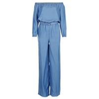 衣服 女士 连体衣/连体裤 Michael by Michael Kors TENCEL OFF SHDR JUMPSUIT 蓝色