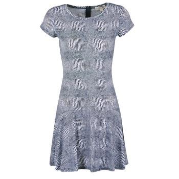 衣服 女士 短裙 Michael by Michael Kors ZEPHYR SS FLARE DRS 蓝色 / 白色