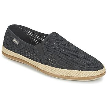 鞋子 男士 帆布便鞋 Bamba By Victoria COPETE ELASTICO REJILLA TRENZA 黑色