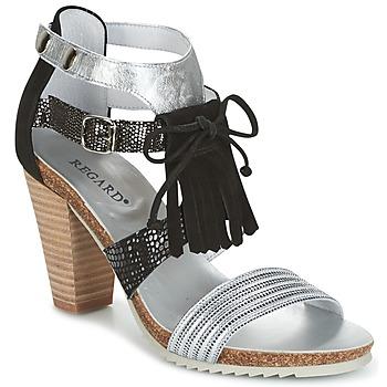 鞋子 女士 凉鞋 Regard RIKA 银灰色 / 黑色
