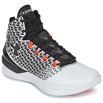 鞋子 男士 篮球 Under Armour 安德玛 UA ClutchFit Drive 3 白色 / 黑色 / 橙色