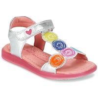 鞋子 女孩 凉鞋 Agatha Ruiz de la Prada 阿嘉莎·鲁兹·德 BIDINETTE 银色