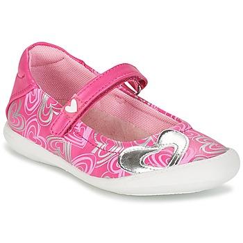 鞋子 女孩 平底鞋 Agatha Ruiz de la Prada 阿嘉莎·鲁兹·德 BALOIN 玫瑰色
