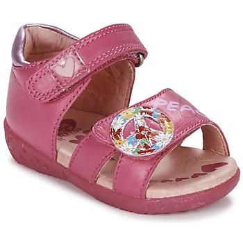 鞋子 女孩 凉鞋 Agatha Ruiz de la Prada 阿嘉莎·鲁兹·德 BOUTICHEK 玫瑰色