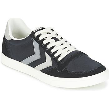 鞋子 球鞋基本款 Hummel TEN STAR DUO CANVAS LOW 黑色 / 灰色