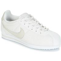 鞋子 女孩 球鞋基本款 Nike 耐克 CORTEZ LEATHER SE JUNIOR 米色