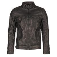 衣服 男士 皮夹克/ 人造皮革夹克 Deeluxe SPANGLE 黑色