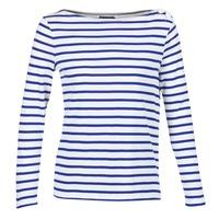 衣服 女士 长袖T恤 Petit Bateau 小帆船 FIX 白色 / 蓝色