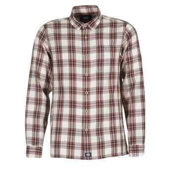 衣服 男士 长袖衬衫 Dickies 迪凯思 HARRELL 白色 / 棕色