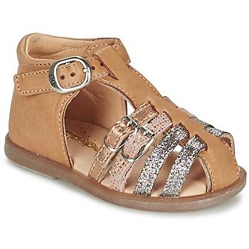 鞋子 女孩 平底鞋 Babybotte 宝宝波特 TWIX 驼色