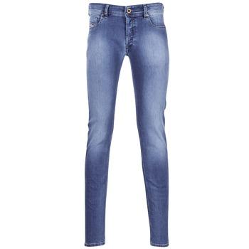 衣服 男士 紧身牛仔裤 Diesel 迪赛尔 SLEENKER 蓝色 / 0681N