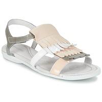 鞋子 女士 凉鞋 Pataugas CANDY/V F2C 白色 / 灰色 / 玫瑰色