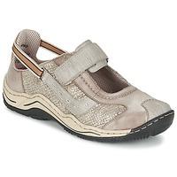 鞋子 女士 球鞋基本款 Rieker 瑞克尔 BIOLORATEIL 灰褐色