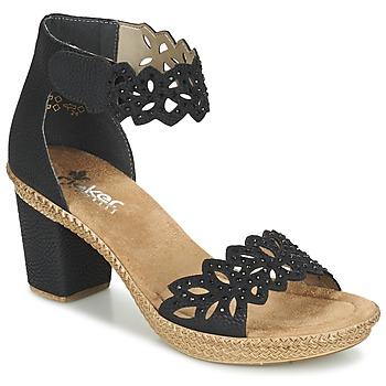 鞋子 女士 凉鞋 Rieker 瑞克尔 POTIRASSE 黑色