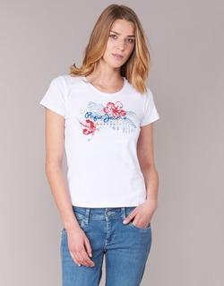 衣服 女士 短袖体恤 Pepe jeans AMBER 白色