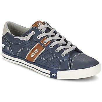 鞋子 男士 球鞋基本款 Mustang FALA 海蓝色