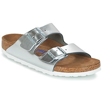 鞋子 女士 休闲凉拖/沙滩鞋 Birkenstock 勃肯 ARIZONA SFB 银灰色