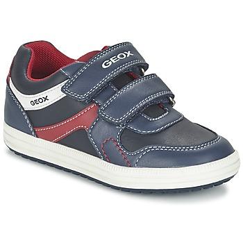 鞋子 男孩 球鞋基本款 Geox 健乐士 J VITA A 海蓝色 / 红色