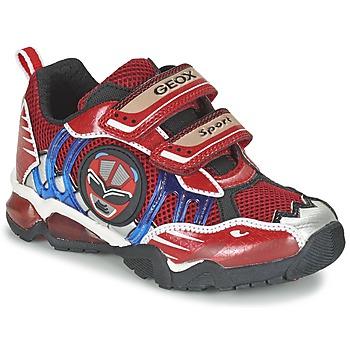 鞋子 男孩 球鞋基本款 Geox 健乐士 J SHUTTLE B. B 红色